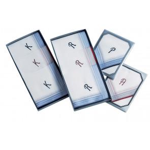 Herrentaschentuch Monogramm Pack(3)#