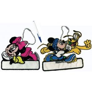 """Namensetikette """"Mickey"""", mit Kette und Stift *"""