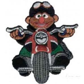 """Appl. """"Ernie auf Motorrad"""""""