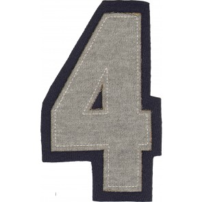 Aufbügelzahlen 16,5cm, grau   4