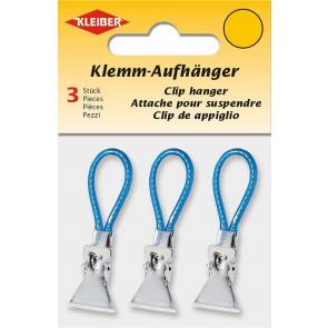 Klemm-Aufhänger  KLEIBER blau (3 Stk./SB)
