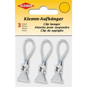 Klemm-Aufhänger  KLEIBER weiß (3 Stk./SB)