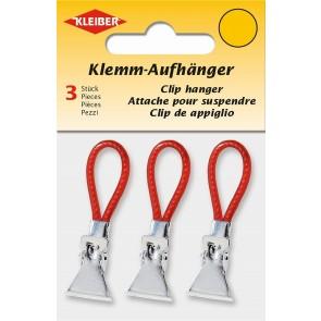 Klemm-Aufhänger  KLEIBER rot (3 Stk./SB)
