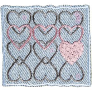 App. HANDY Herzen im Viereck jeans