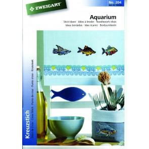 ZWEIGART-Brosch. Aquarium *