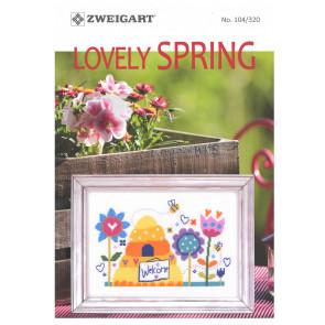 ZWEIGART-Brosch. Lovely Spring